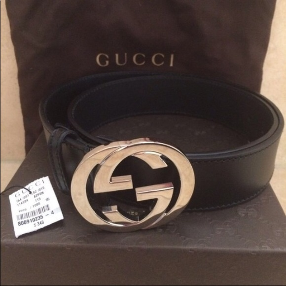 Gucci belt gold and black NWT